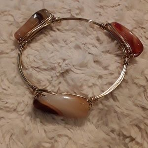 New wire bracelet/natural stones
